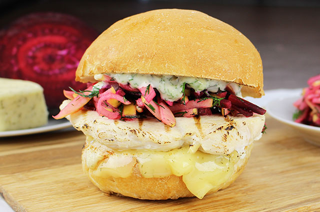 Beetroot Chicken Sandwich
