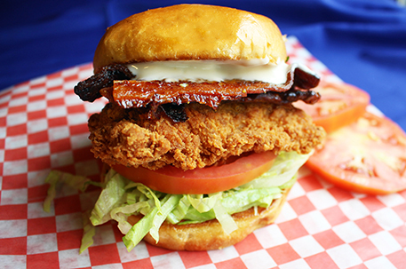 Crispy Chicken Bacon, Lettuce and Tomato Sandwich (CBLT)