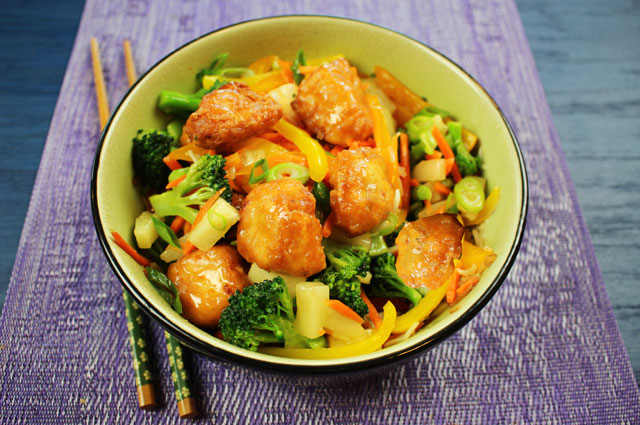 Chicken Sweet & Sour Pineapple Stir-Fry