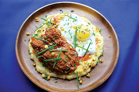 Southern Fried Chicken & Cheddar Grits