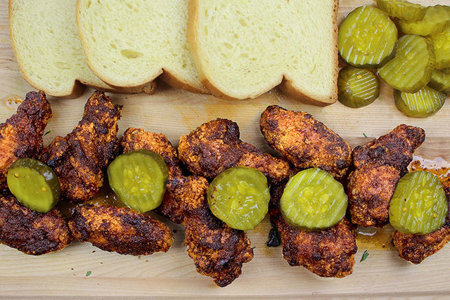 Nashville Hot Dusted Chicken Wings