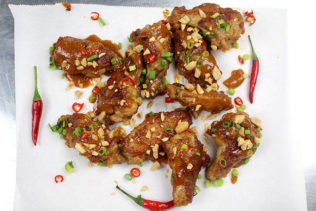 Pan Fried Thai Peanut Chicken Wings